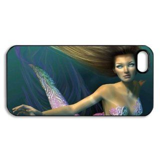 ePcase High Quality Printed Black Hard Case Cover for iPhone 5   Fairy Angel   Mermaid Cell Phones & Accessories
