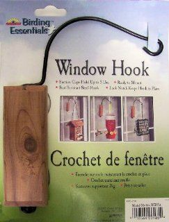 """ABC Products""   Birding Essentials ~ Suction Cup   Red Cedar Window Hook (Use for Hummingbirds, Windchime Feeders and Etc.). Kitchen & Dining"
