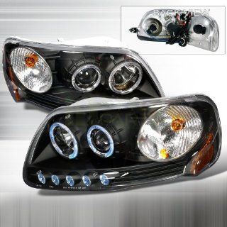 1997 2002 Ford Expedition, 1997 2003 Ford F150 Halo Projector Headlights Black Automotive