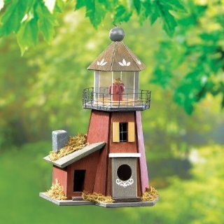 Gifts & Decor Nautical Nest Wood Lighthouse Bird House Garden, Lawn, Supply, Maintenance  Lawn And Garden Spreaders  Patio, Lawn & Garden
