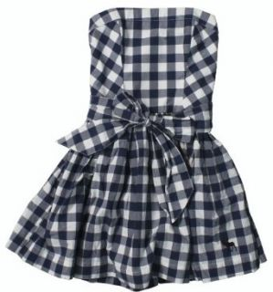 Abercrombie & Fitch Women's Fiona Check Dress (Navy Blue & White Check) (Medium)