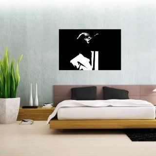 "Oasis Liam Galagher Wall Graphic Decal Sticker 25"" x 16""   Wall Decor Stickers"