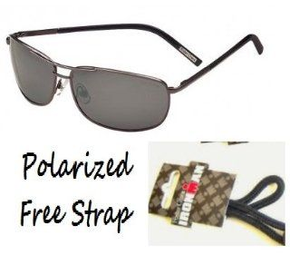 Foster Grant Polarized Aviator R Sunglasses with Spring Hinges and Iron Man Eyeglass Strap Sports & Outdoors