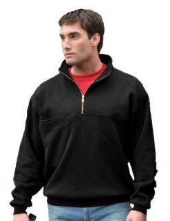 Men's React Cotton poly 1/4 zip firefighter's work shirt, Color Black, Size Small at  Men�s Clothing store