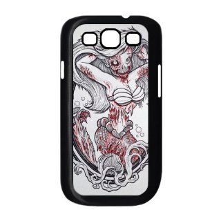 Zombie Disney Princesses Ariel Samsung Galaxy S3 Case for Samsung Galaxy S3 I9300 Plastic New Back Case Cell Phones & Accessories