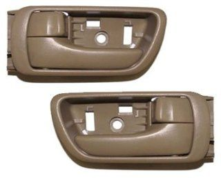 #DS28 02 06 Motorking Toyota Camry Tan Replacement 2 Inside Door Handles 02 03 04 05 06 Automotive