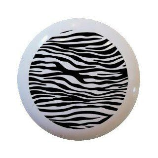 Retro Zebra Pattern Ceramic Knobs Pulls Kitchen Drawer Cabinet Vanity Closet 517   Cabinet And Furniture Knobs