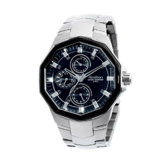 Armitron Men's 204525BKSV Silver Tone Stainless Steel Black Multi Function Dial Dress Watch at  Men's Watch store.