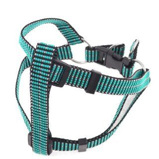 Seagreen Nylon Braided Adjustable Pet Dog Chest Strap Collar Harness Size L  Pet Halter Harnesses
