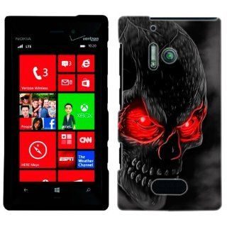 Nokia Lumia 928 Red Eye Skull Case Cell Phones & Accessories