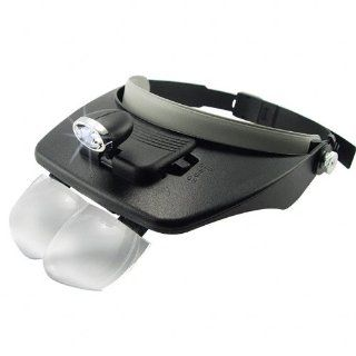 Head Visor Magnifying Glasses with Adjustable LED Light Electronic Maintenance Lighted Magnifiers+ Christmas Free Gift
