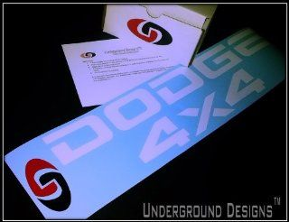 DODGE TAILGATE 4X4 Decal Kit GLOSS WHITE by Underground Designs Automotive