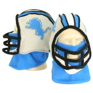Detroit Lions Football Helmet Winter Knit Hat (With Removable Neck Gaiter)  Sports Fan Beanies  Sports & Outdoors