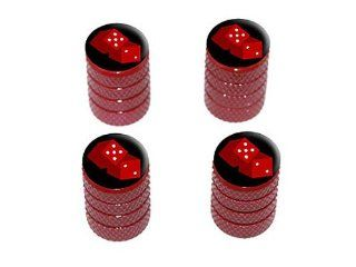 Dice   Craps   Gambling   Tire Rim Wheel Valve Stem Caps   Red Automotive