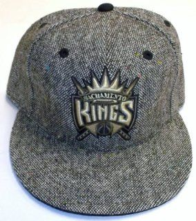 NBA Sacramento Kings Flat Bill Fitted Adidas Hat   Size 7 5/8   TX82M  Sports Fan Baseball Caps  Sports & Outdoors