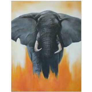 Angry Elephant Painting~Canvas~Bali Art   Acrylic Paintings