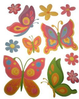 Craft Decor Wall Stickers Butterflies & Flowers Nursery Kids Room Removable & Repositionable Decals