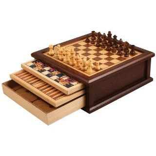 "Shop Joanne 13"" Ten Classic Wooden Games   Checkers, Chess, Chinese Checkers, Backgammon, Ludo, Mancala, Snakes and Ladders, Mill, Solitaire at the  Home D�cor Store. Find the latest styles with the lowest prices from Best Chess Set"