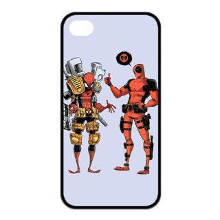 Deadpool Pattern in CASEDY DESIGN TPU iphone4/4s black side case Cell Phones & Accessories