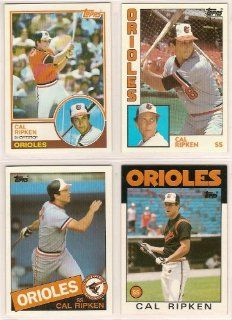 Cal Ripken Jr. (4) Card Topps Baseball Lot (1983 1984 1985 1986 Topps Cards) (Baltimore Orioles  Sports Related Trading Cards  Sports & Outdoors
