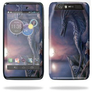 MightySkins Protective Skin Decal Cover for Motorola Atrix HD Cell Phone AT&T Sticker Skins Dragon Fantasy Cell Phones & Accessories