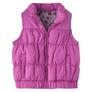Genuine Kids from OshKosh Infant Toddler Girls Puffer Vest   Pink 24 M
