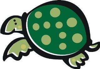 "2"" wide Green spotted turtle. Engineer Grade reflective printed vinyl decal sticker for any smooth surface such as windows bumpers laptops or any smooth surface.   Wall Decor Stickers"