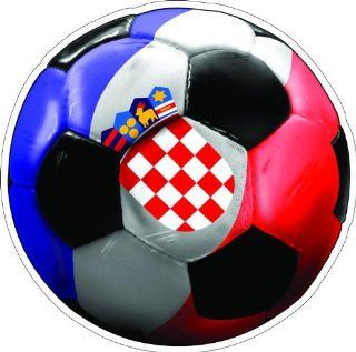 "10"" CROATIA SOCCER BALL Printed engineer grade reflective vinyl decal sticker for any smooth surface such as windows bumpers laptops or any smooth surface."