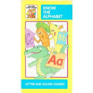 Know the Alphabet Letter and Sound Games (Video Tape A Golden Book Step Ahead Video) (VHS 30 Minutes) Timmy Tiger, Western Publishing 9780307138583 Books