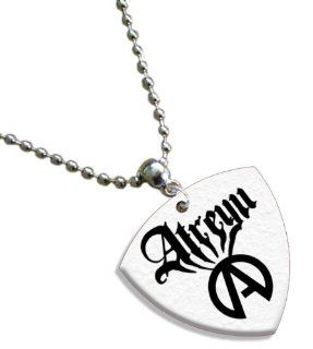 Atretu Chain / Necklace Bass Guitar Pick Both Sides Printed Musical Instruments