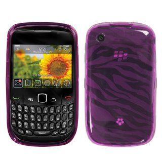 Hot Pink Zebra Skin Candy Skin Cover for BlackBerry 8520, 8530 Cell Phones & Accessories