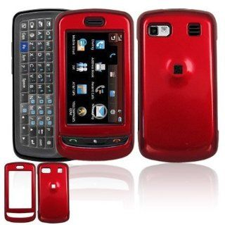 Solid Red Snap On Cover Hard Case Cell Phone Protector for LG Xenon GR500 [Beyond Cell Packaging] Cell Phones & Accessories