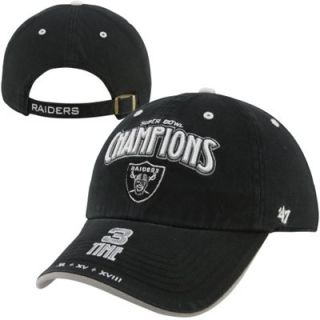 47 Brand Oakland Raiders NFL Timeline Commemorative Champ Adjustable Hat   Black