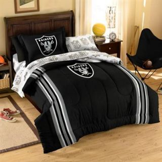 Oakland Raiders 5 Piece Twin Size Bedding Set