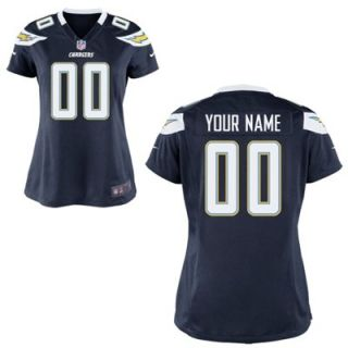 Nike Womens San Diego Chargers Customized Team Color Game Jersey