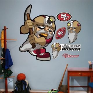 Fathead San Francisco 49ers NFL Rush Zone Wall Decal Set