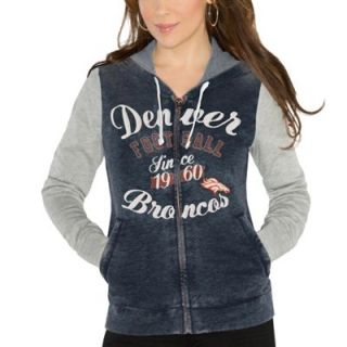 Touch by Alyssa Milano Denver Broncos Ladies Touchdown Full Zip Hoodie   Navy Blue