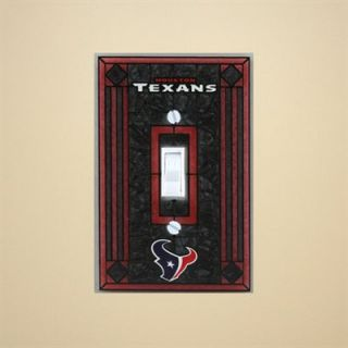 Houston Texans Navy Blue Art Glass Switch Plate Cover
