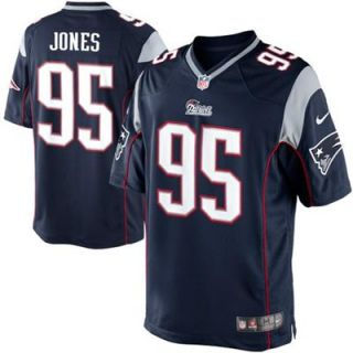 Nike Chandler Jones New England Patriots Limited Jersey   Navy Blue
