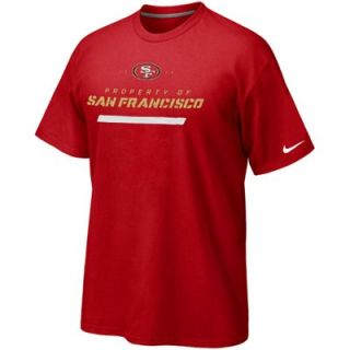 Nike San Francisco 49ers Property Of T Shirt   Scarlet