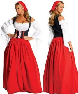 Renaissance Bar Maid   Women's Sexy Old Fashioned Costume Lingerie Outfit Adult Sized Costumes Clothing
