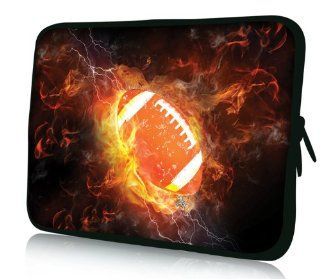 "Brand NEW Fashion cool FIRE football design 15"" 15.4"" 15.6"" inch Laptop Bag Case Notebook Sleeve Cover Pouch for Lenovo Idealpad Thinkpad /Dell Inspiron 1545 15 15r /Dell XPS 15z Alienware M15x /Apple Macbook Pro/ 15.5"" Sony Vaio E Seri"