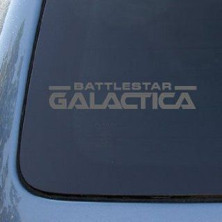 BATTLESTAR GALACTICA LOGO   Vinyl Decal Sticker #A1425  Vinyl Color Silver Automotive