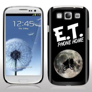 "Samsung Galaxy S3 Case  E.T. The Extra Terrestrial   Movie Quote   ""E.T. Phone Home""   Black Protective Hard Case Cell Phones & Accessories"