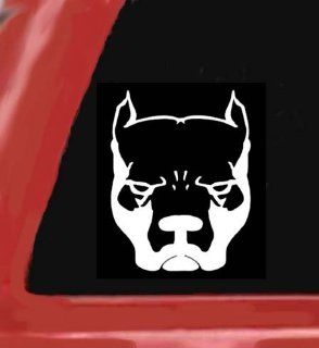 "PIT BULL DOG White 5"" Vinyl STICKER/DECAL for Cars,Trucks,Trailers,Notebooks,Etc. Automotive"