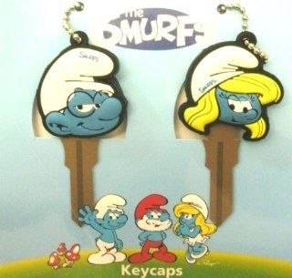 The Smurfs Comic Television Franchise Brainy & Smurfette Car Truck SUV Key Chain Caps Covers Automotive