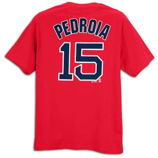 Majestic MLB Name and Number T Shirt   Mens   Baseball   Clothing   Boston Red Sox   Pedroia, Dustin   Red