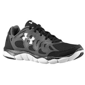 Under Armour Micro G Engage   Mens   Running   Shoes   Black/Charcoal/White