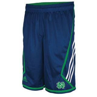 adidas College 3 Stripe Mesh Shorts   Mens   Basketball   Clothing   Notre Dame Fighting Irish   Navy/Green