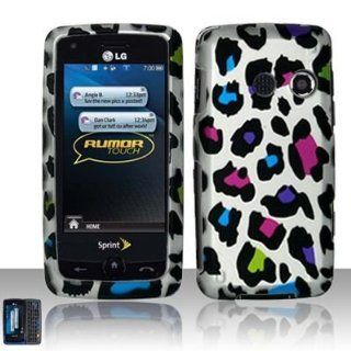 LG Banter Touch Rumor Touch LN510 (Sprint MetroPCS)   Rubberized Design Case Cover Protector   Colorful Leopard (free ESD Shield Bag) Cell Phones & Accessories